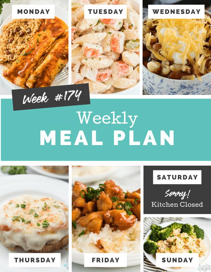 Easy Weekly Meal Plan Week 174 via @familyfresh