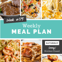 Easy Weekly Meal Plan Week 175