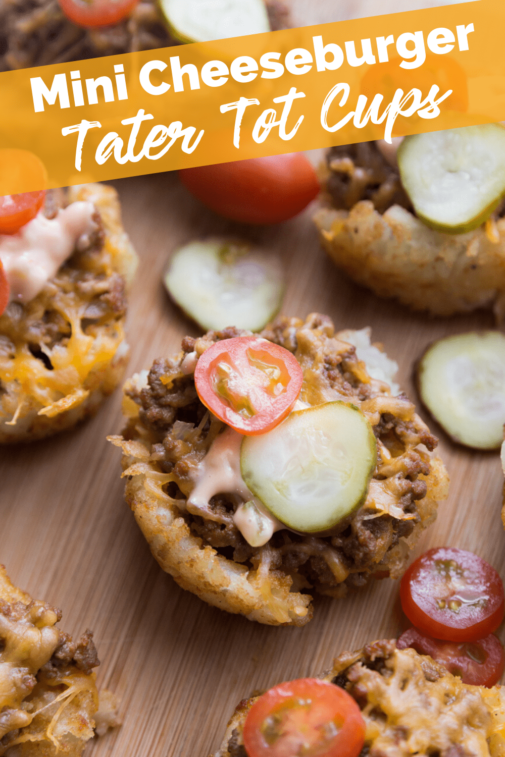 Mini Cheeseburger Tater Tot Cups recipe from Family Fresh Meals via @familyfresh