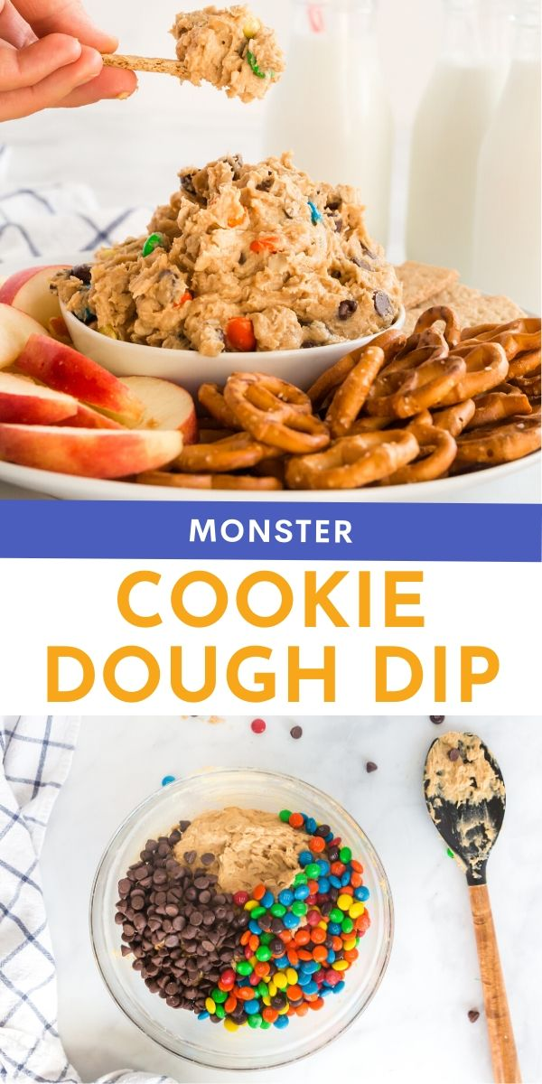 Monster Cookie Dough Dip Recipe from Family Fresh Meals  via @familyfresh