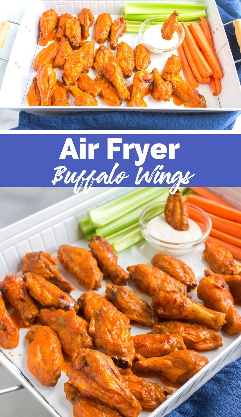 Air Fryer Buffalo Wings via @familyfresh