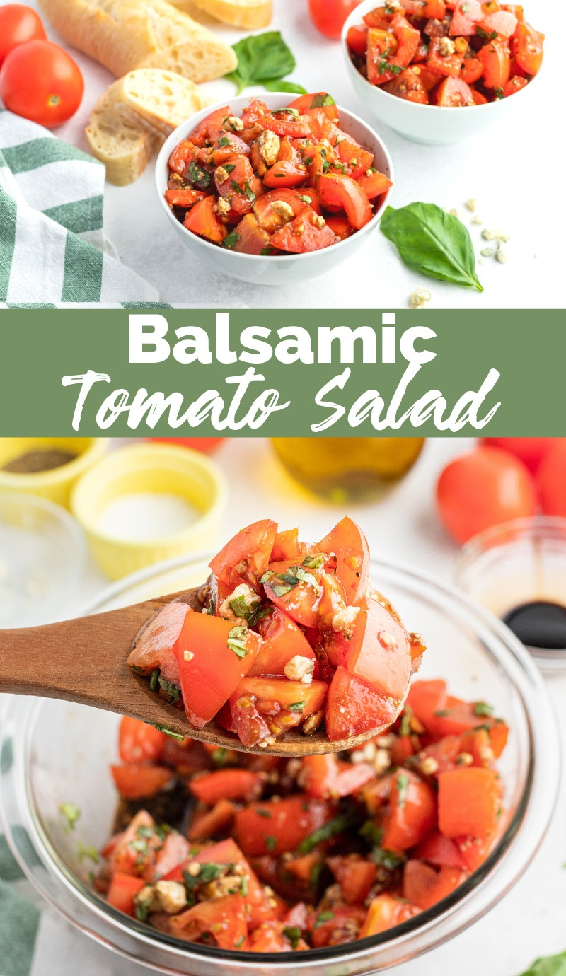 Balsamic Tomato Salad via @familyfresh