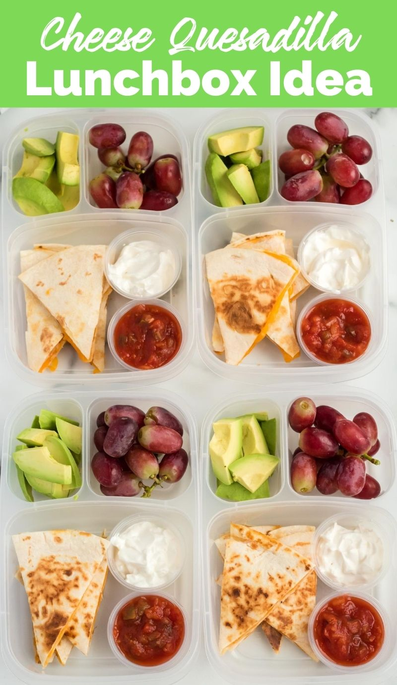 Cheese Quesadilla Lunchbox Idea from Family Fresh Meals via @familyfresh