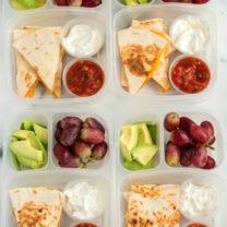 Cheese Quesadilla Lunchbox Idea