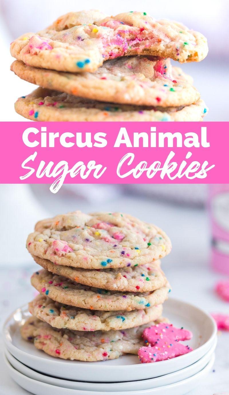 Circus Animal Sugar Cookies Recipe from Family Fresh Meals via @familyfresh