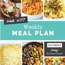 Easy Weekly Meal Plan Week 177