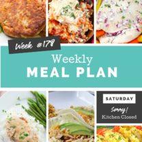 Easy Weekly Meal Plan Week 178