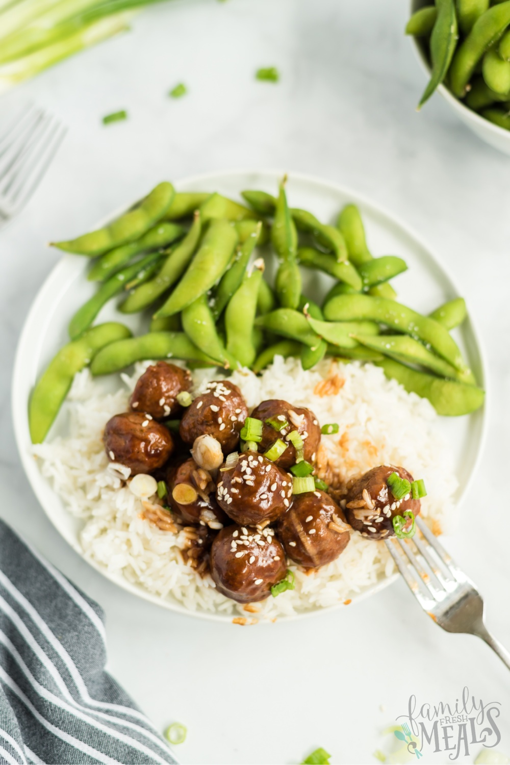 Crockpot Teriyaki Meatballs Recipe from Family Fresh Meals via @familyfresh