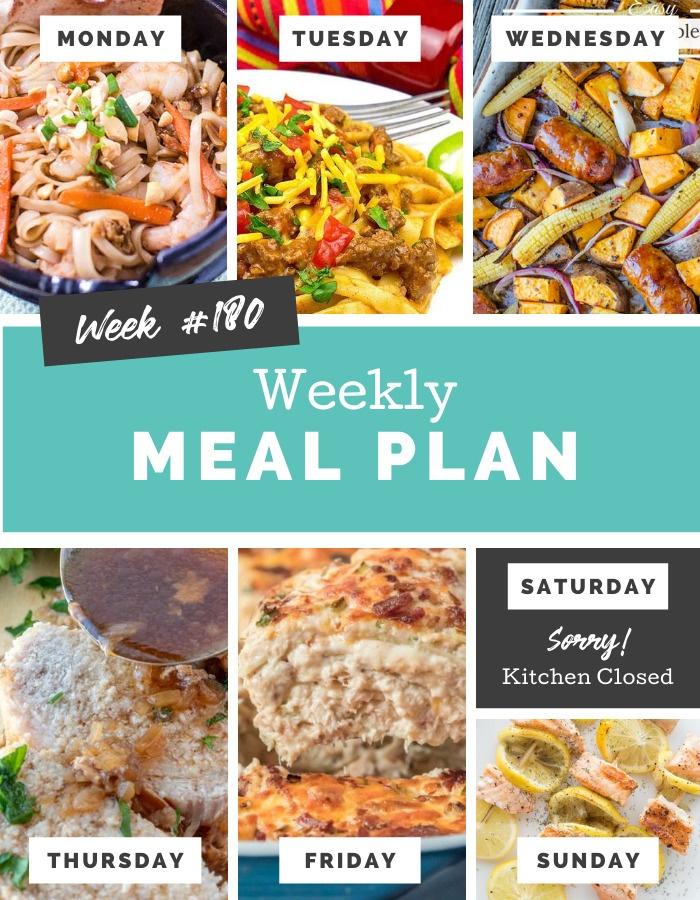 Easy Weekly Meal Plan Week 180 via @familyfresh