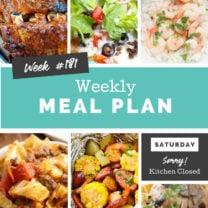 Easy Weekly Meal Plan Week 181