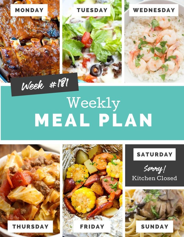 Easy Weekly Meal Plan Week 181 #mealplan #kidapproved #easyrecipes #familyfreshmeals via @familyfresh