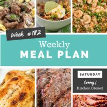 Easy Weekly Meal Plan Week 182