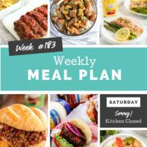Easy Weekly Meal Plan Week 183