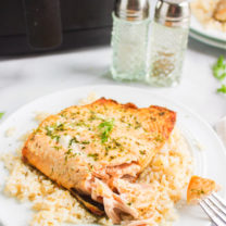 Air Fryer Salmon with Dill Butter Sauce