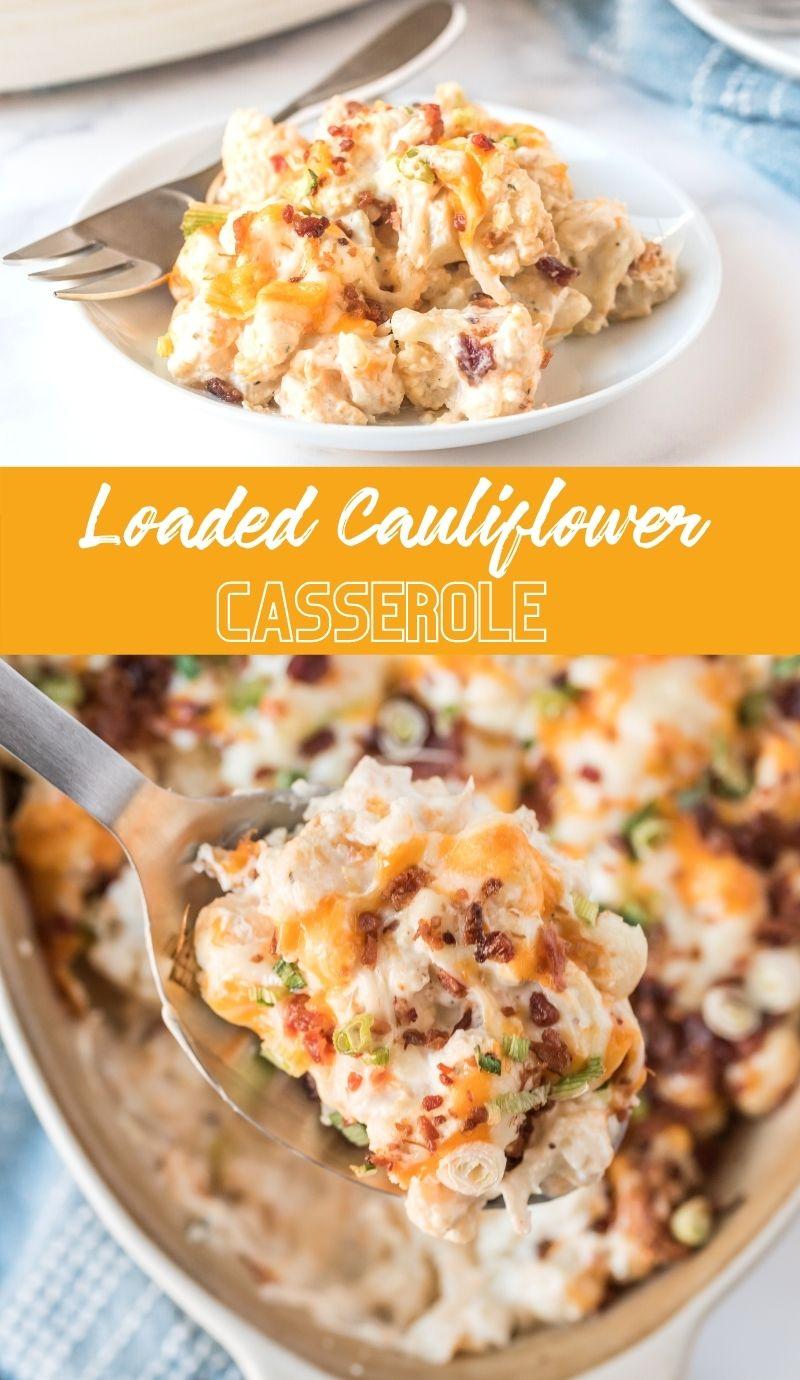 Loaded Cauliflower Casserole via @familyfresh
