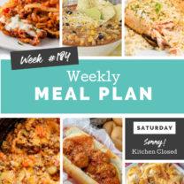 Easy Weekly Meal Plan Week 184