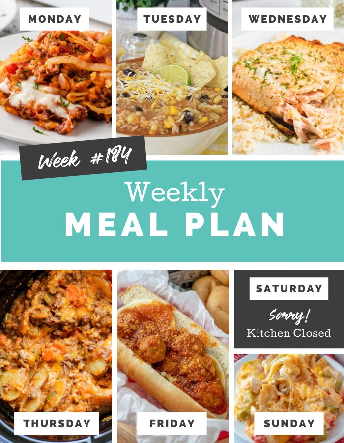 Easy Weekly Meal Plan Week 184 #mealplan #familyrecipes #easyrecipes via @familyfresh