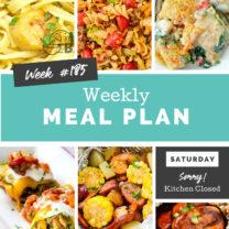Easy Weekly Meal Plan Week 185