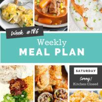 Easy Weekly Meal Plan Week 186