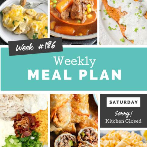 Image de collage montrant des images de recettes du plan de repas hebdomadaire
