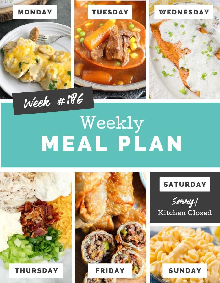 Easy Weekly Meal Plan Week 186 via @familyfresh