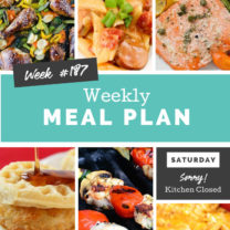 Easy Weekly Meal Plan Week 187
