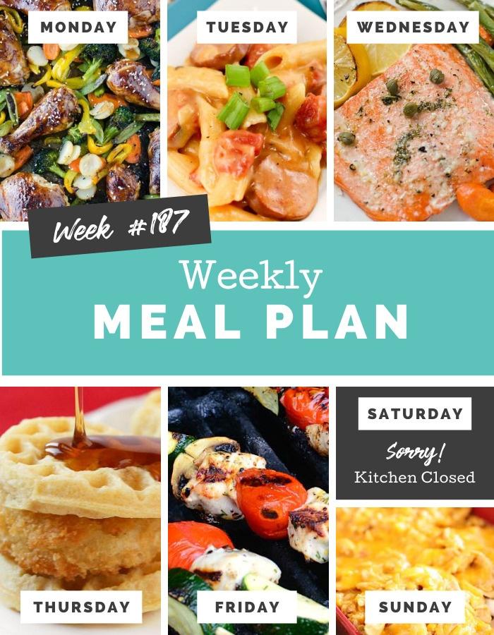 Easy Weekly Meal Plan Week 187 via @familyfresh