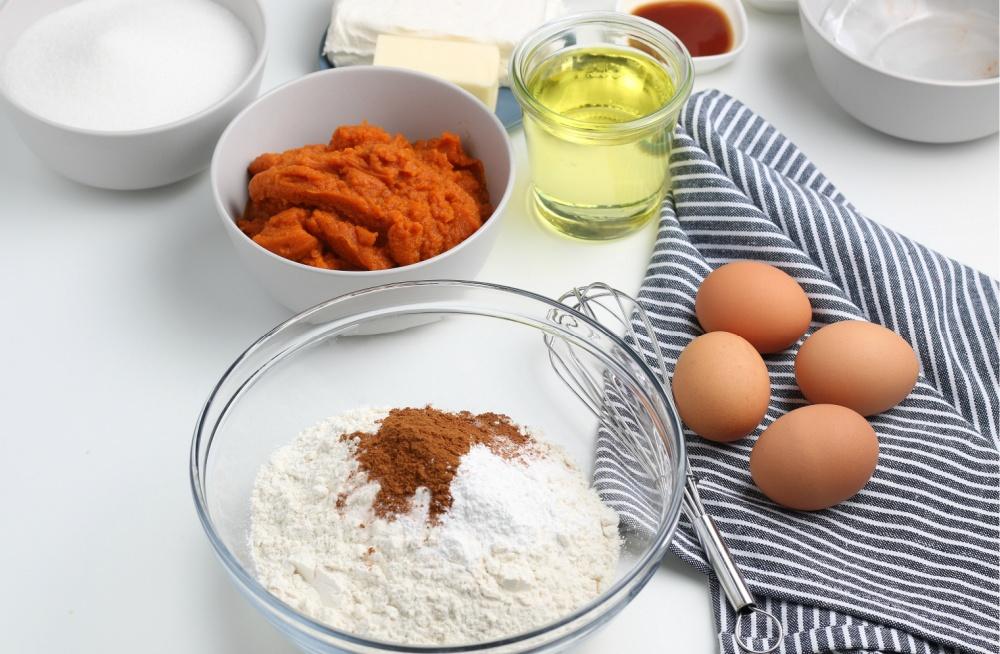 ingrédients pour les barres de potiron