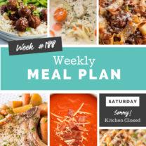 Easy Weekly Meal Plan Week 188