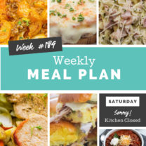 Easy Weekly Meal Plan Week 189