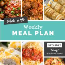 Easy Weekly Meal Plan Week 190