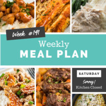 Easy Weekly Meal Plan Week 191