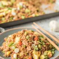 Sheet Pan Pork Fried Rice