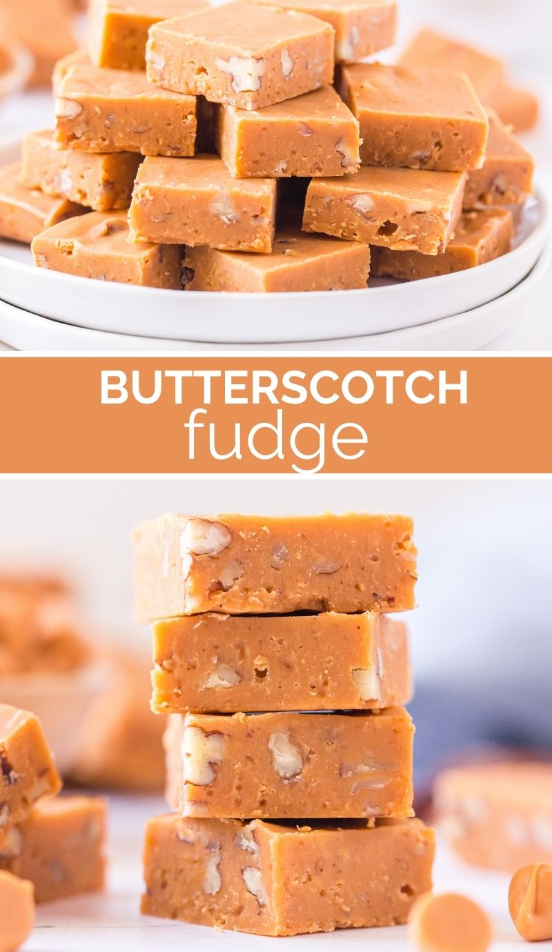This Butterscotch Fudge recipe is so rich, so buttery-sweet, loaded up with chopped pecans and spiced with a hint of vanilla and cinnamon. via @familyfresh