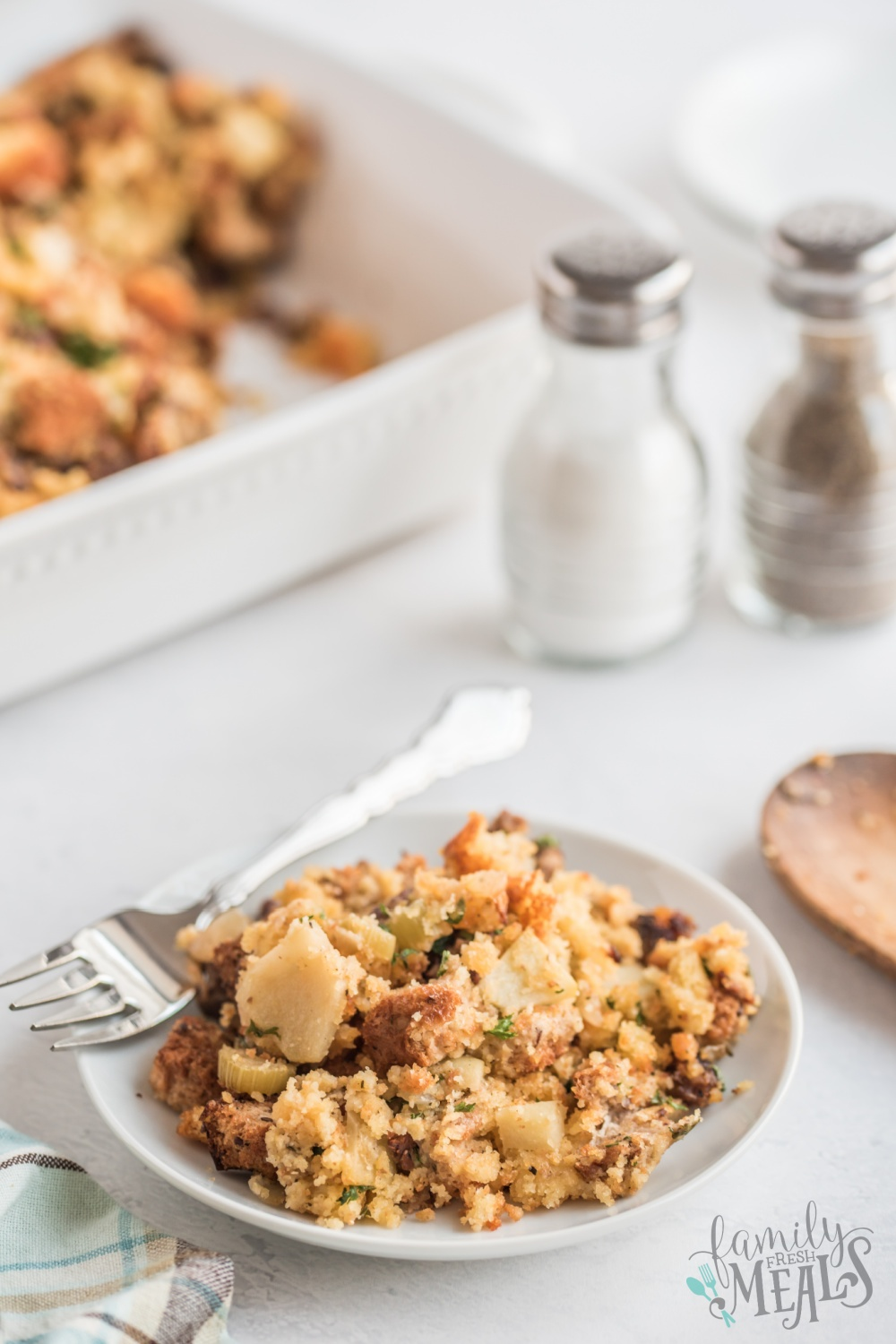 Once you taste this Cornbread Stuffing recipe melt in your mouth, you'll never want to make any other stuffing again. via @familyfresh