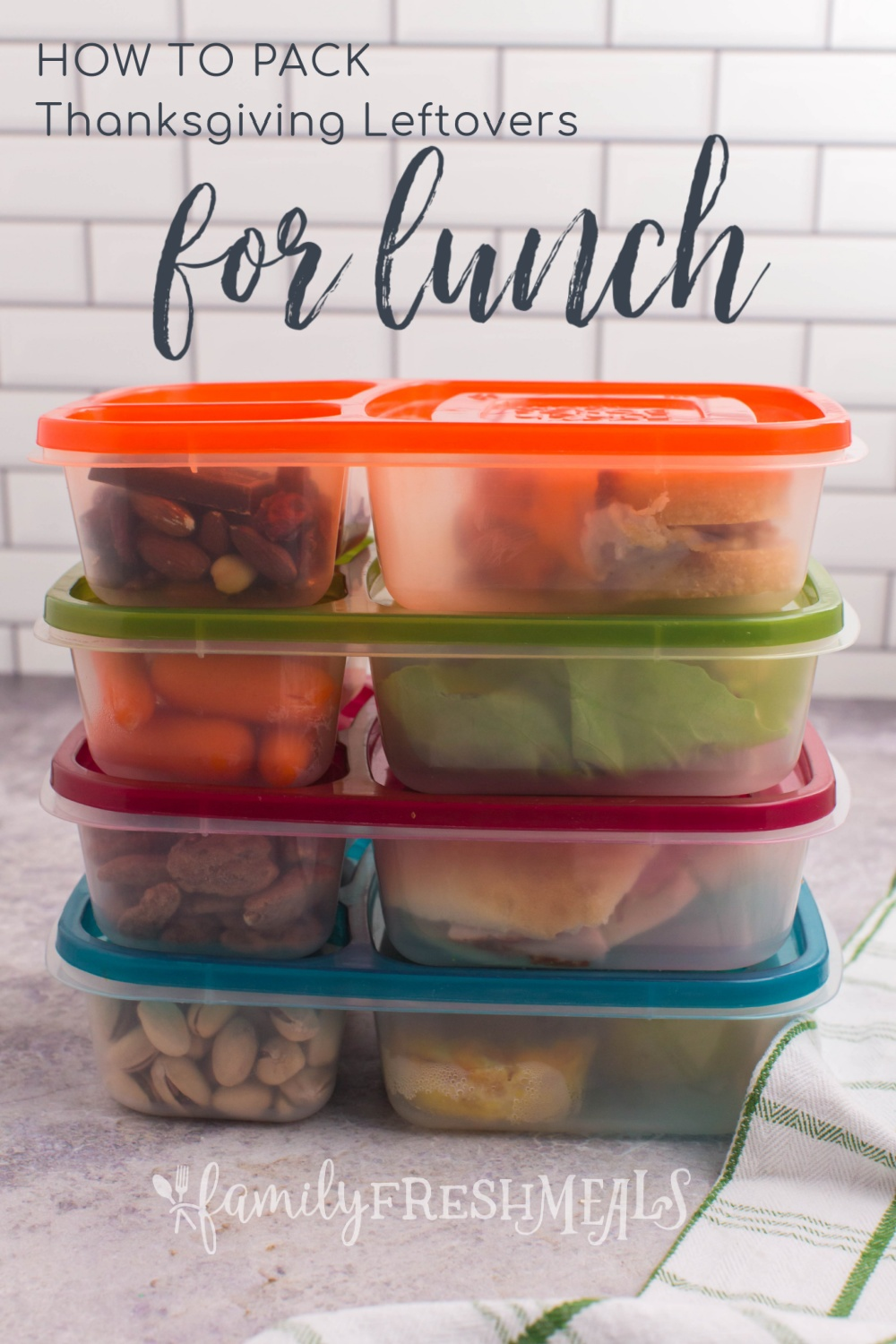 Rather than just serve up a rerun of Thanksgiving dinner, here are some new and fun Leftover Thanksgiving Food Lunchbox Ideas. via @familyfresh