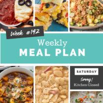 Easy Weekly Meal Plan Week 192