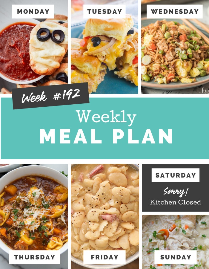 Welcome back to another Easy Weekly Meal Plan Week 192. There are a lot of yummy and easy recipes for you to try out this week! via @familyfresh