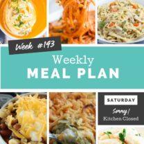 Easy Weekly Meal Plan Week 193