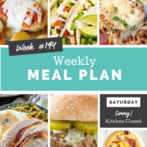 Easy Weekly Meal Plan Week 194