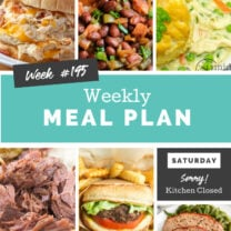 Easy Weekly Meal Plan Week 195
