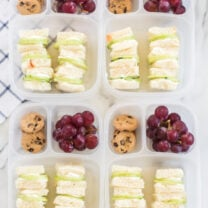 Mini Cucumber Sandwich Lunchbox Idea
