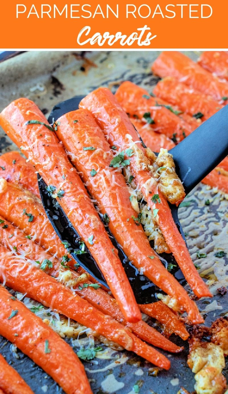 These Parmesan Roasted Carrots will become one of your favorite vegetables side dishes. Crunchy salty on the outside, sweet on the inside. via @familyfresh