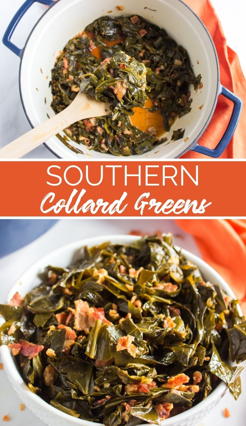This Southern Collard Greens Recipe is the only collards recipe you will ever need. It's the perfect holiday side dish. via @familyfresh
