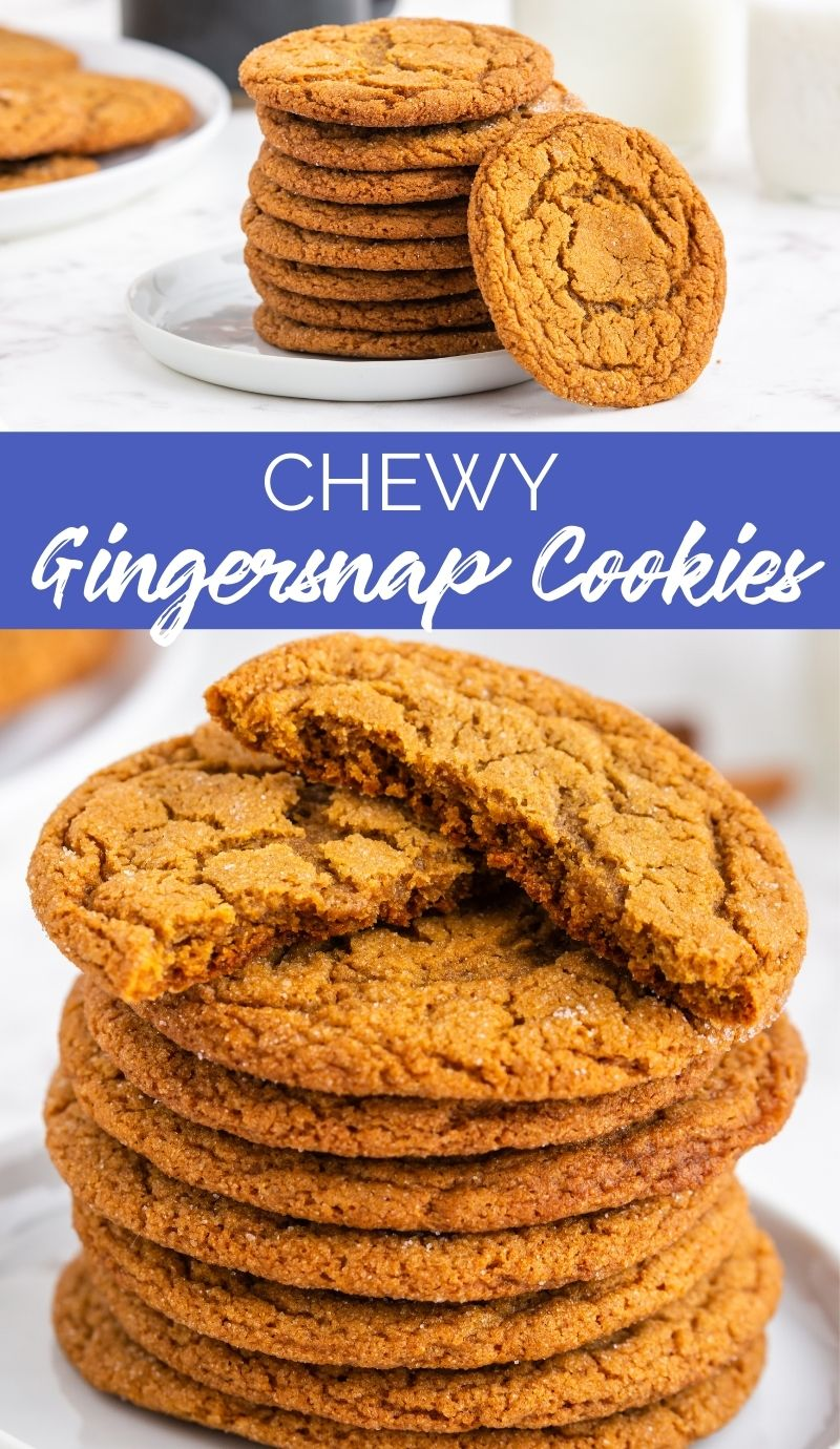 These Chewy Gingersnap Cookies are perfect if you're in the mood for a soft and chewy cookie that has crispy edges and a nice warmth from ginger and cinnamon! via @familyfresh