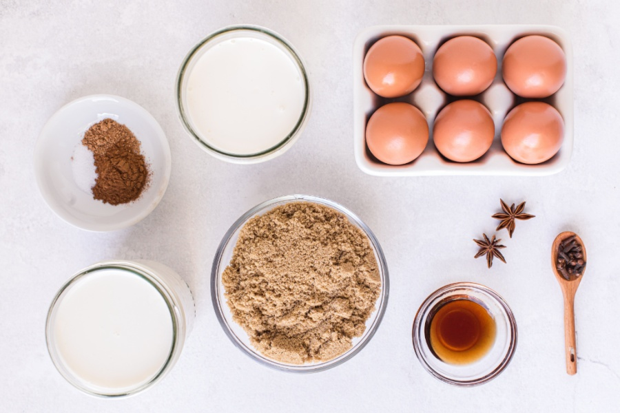 ingredients for homemade eggnog