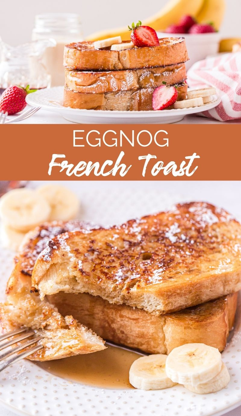 This Eggnog French Toast is incredibly easy to prepare and makes the perfect breakfast for Christmas morning. via @familyfresh