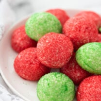 Green and Red Butter Cookies