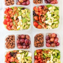 Easy Lunchbox Cobb Salads