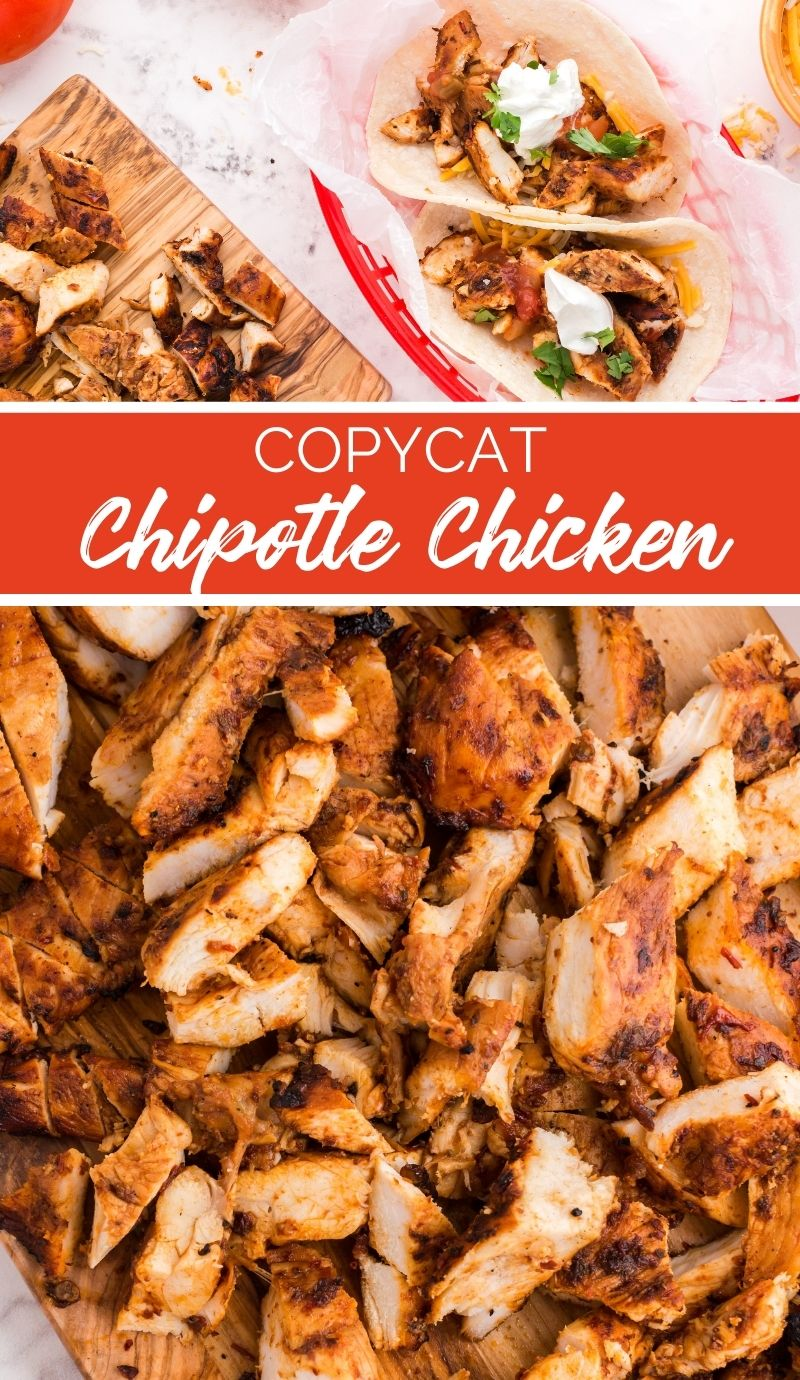 When the family asks to make a trip to Chipotle, wow them instead with this Copycat Chipotle Chicken recipe. Great for tacos, burritos or salads. via @familyfresh